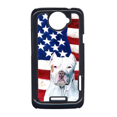 Carolines Treasures SC9026HTCONE USA American Flag With Pit Bull HTC One X Cell Phone Cover