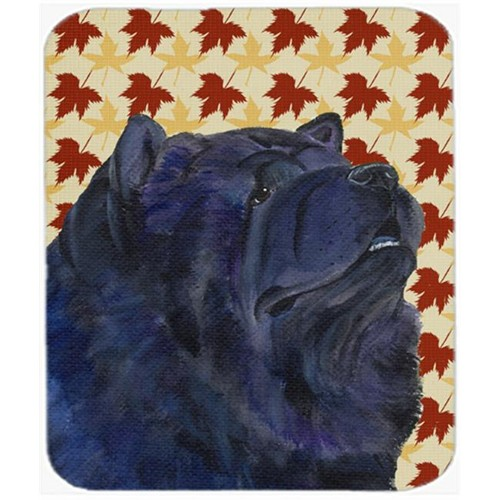 Carolines Treasures SS4355MP Chow Chow Fall Leaves Portrait Mouse Pad Hot Pad Or Trivet