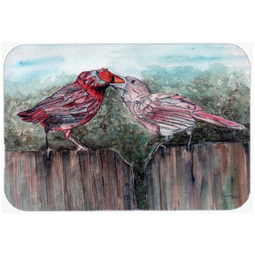 Carolines Treasures 8981MP Red Bird Feeding Mouse Pad Hot Pad or Trivet