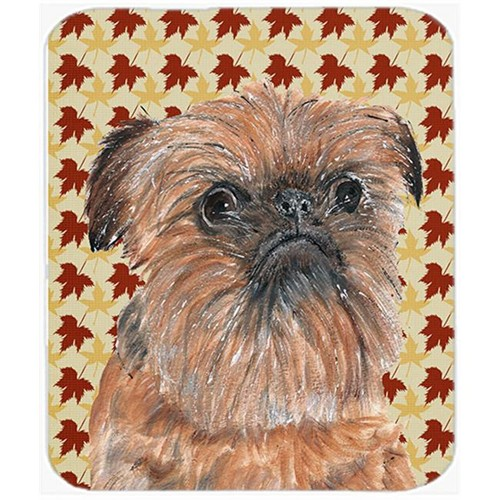 Carolines Treasures SC9544MP 7.75 x 9.25 In. Brussels Griffon Fall Leaves Mouse Pad Hot Pad or Trivet