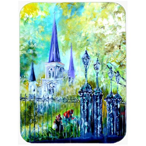 Carolines Treasures MW1183MP Across The Square St Louis Cathedral Mouse Pad Hot Pad & Trivet