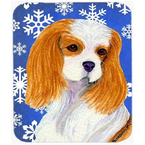 Carolines Treasures SS4665MP Cavalier Spaniel Winter Snowflakes Holiday Mouse Pad Hot Pad or Trivet