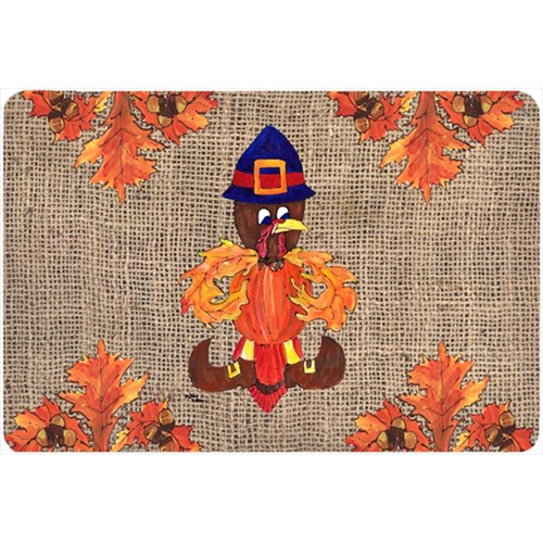 Carolines Treasures 8743MP 9.25 x 7.75 in. Thanksgiving Turkey Pilgrim Fleur de lis Mouse Pad Hot Pad Or Trivet