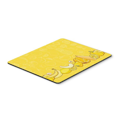 Carolines Treasures BB5134MP Fruits & Vegetables in Yellow Mouse Pad Hot Pad or Trivet