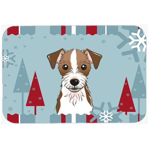 Carolines Treasures BB1698MP Winter Holiday Jack Russell Terrier Mouse Pad Hot Pad & Trivet