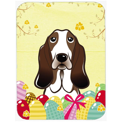 Carolines Treasures BB1925MP Basset Hound Easter Egg Hunt Mouse Pad Hot Pad or Trivet