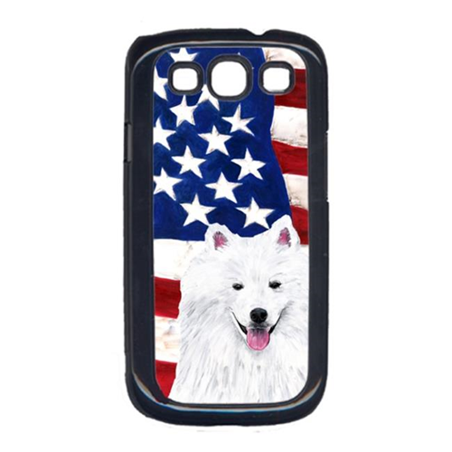 Carolines Treasures SC9023GALAXYS3 USA American Flag with American Eskimo Cell Phone Cover GALAXY S111