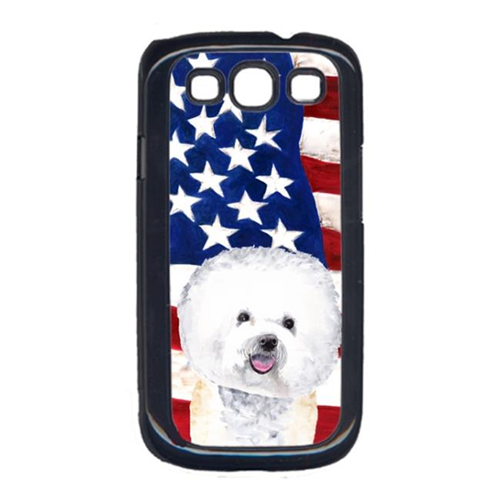 Carolines Treasures SC9014GALAXYS3 USA American Flag with Bichon Frise Cell Phone Cover GALAXY S111