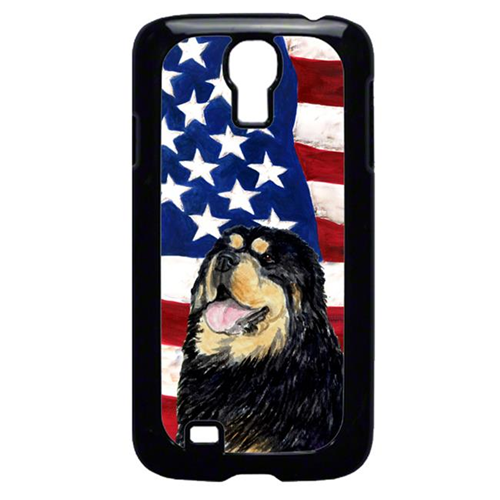 Carolines Treasures SS4039GALAXYS4 USA American Flag With Tibetan Mastiff Galaxy S4 Cell Phone Cover