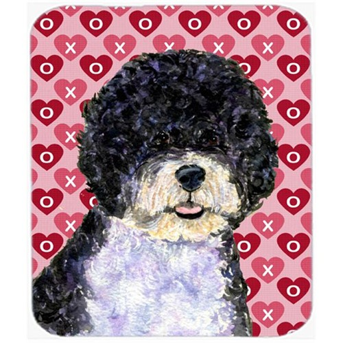 Carolines Treasures SS4490MP Portuguese Water Dog Hearts Love Valentines Day Mouse Pad Hot Pad Or Trivet