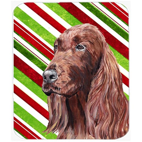 Carolines Treasures SC9608MP Irish Setter Candy Cane Christmas Mouse Pad Hot Pad Or Trivet