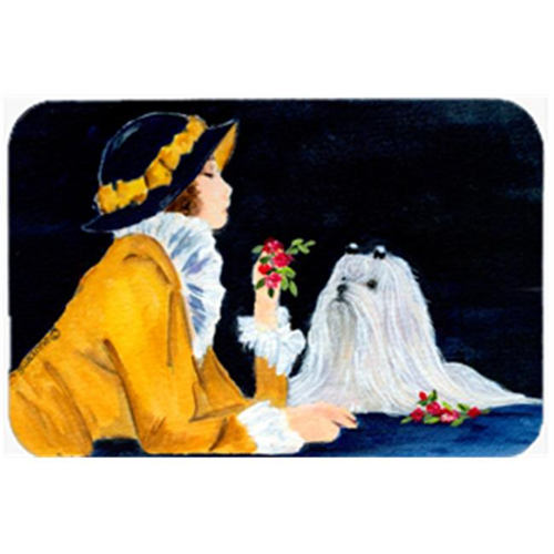 Carolines Treasures SS8537MP Lady With Her Maltese Mouse Pad & Hot Pad Or Trivet