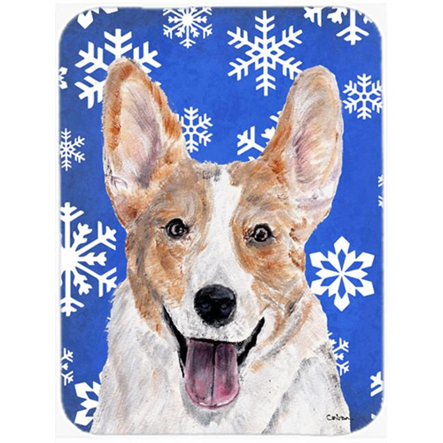 Carolines Treasures SC9768MP Cardigan Corgi Winter Snowflakes Mouse Pad Hot Pad Or Trivet 7.75 x 9.25 In.
