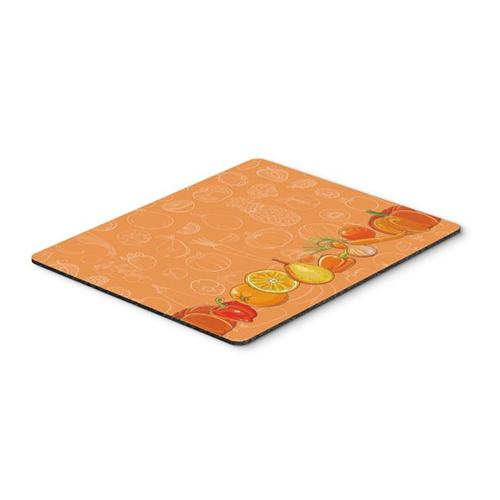 Carolines Treasures BB5131MP Fruits & Vegetables in Orange Mouse Pad Hot Pad or Trivet