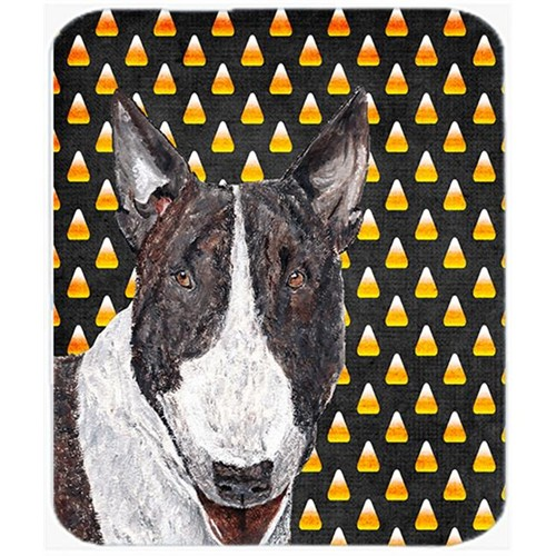 Carolines Treasures SC9533MP 7.75 x 9.25 In. Bull Terrier Halloween Candy Corn Mouse Pad Hot Pad or Trivet