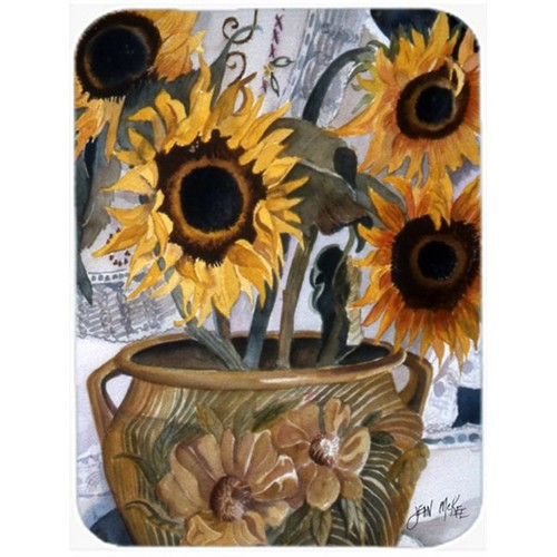 Carolines Treasures JMK1202MP Pot Of Sunflowers Mouse Pad Hot Pad & Trivet