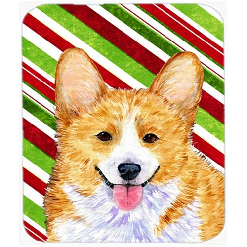 Carolines Treasures SS4555MP Corgi Candy Cane Holiday Christmas Mouse Pad Hot Pad Or Trivet