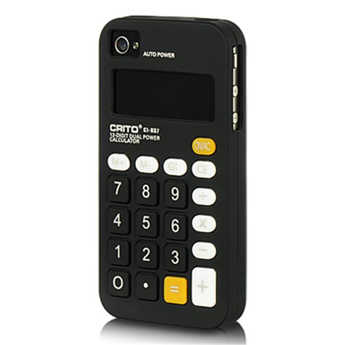 DreamWireless IP-SCIP4VZCALBK iPhone 4S & iPhone 4 Compatible Calculator Skin Case - Black
