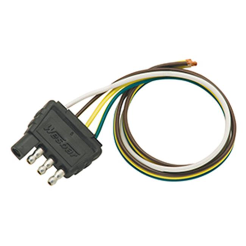 Wesbar 707285 4-Flat Trailer End Connector 18 In. Wunside Harness 18 In. Ground 1.50 x 3 x 4.75 in.