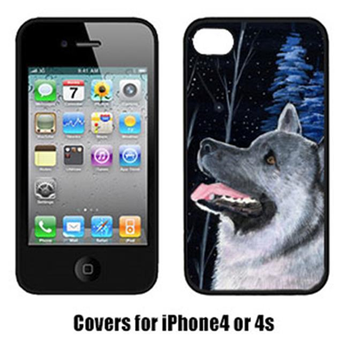 Carolines Treasures SS8398IP4 Starry Night Norwegian Elkhound Cell Phone cover IPhone 4
