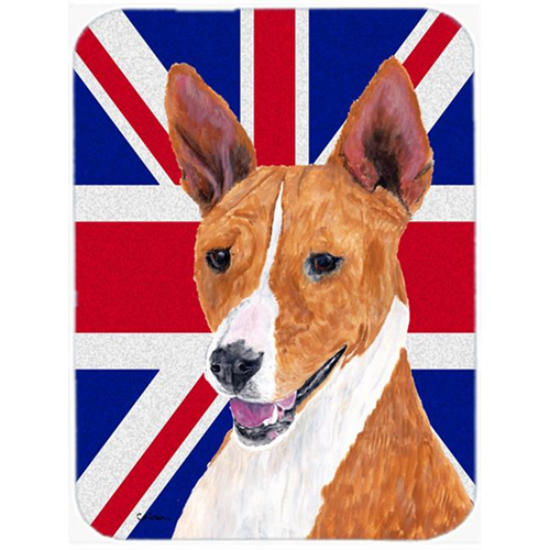 Carolines Treasures SC9844MP 7.75 x 9.25 In. Basenji With English Union Jack British Flag Mouse Pad Hot Pad Or Trivet