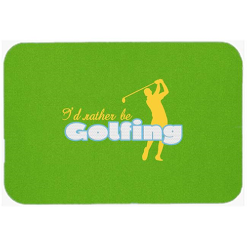 Carolines Treasures SB3092MP 7.75 x 9.25 In. I Had Rather Be Golfing Man On Green Mouse Pad Hot Pad Or Trivet
