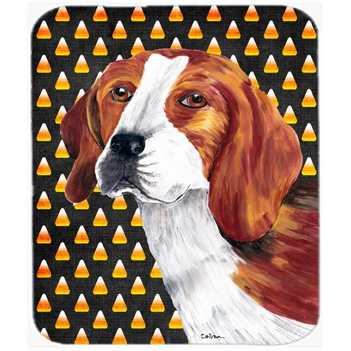 Carolines Treasures SC9179MP Beagle Candy Corn Halloween Portrait Mouse Pad Hot Pad Or Trivet
