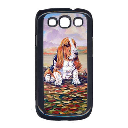 Carolines Treasures 7004GALAXYSIII Basset Hound Little one watching Cell Phone Cover Galaxy S111