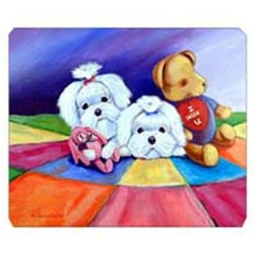 Carolines Treasures 7515MP 8 x 9.5 in. Maltese Mouse Pad Hot Pad or Trivet