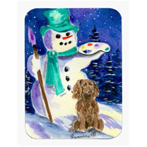 Carolines Treasures SS1001MP 8 x 9.5 in. Artist Snowman with Boykin Spaniel Mouse Pad Hot Pad or Trivet