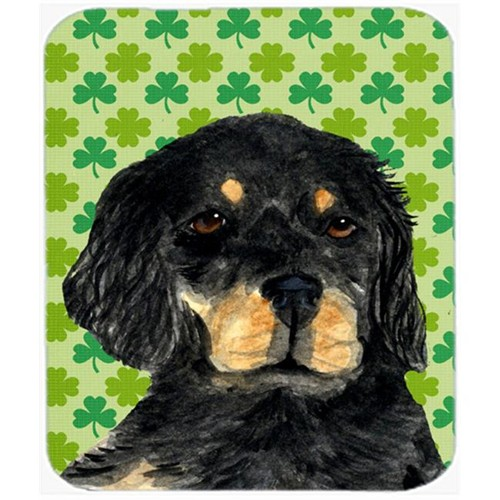Carolines Treasures SS4446MP Gordon Setter St. Patricks Day Shamrock Portrait Mouse Pad Hot Pad Or Trivet