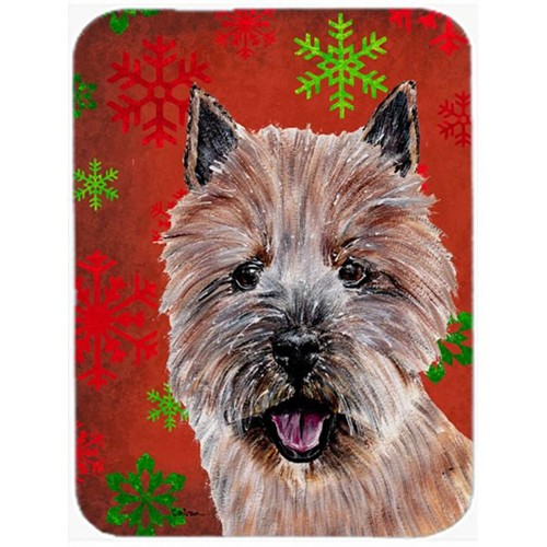 Carolines Treasures SC9758MP Norwich Terrier Red Snowflakes Holiday Mouse Pad Hot Pad Or Trivet 7.75 x 9.25 In.