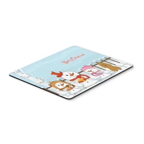 Carolines Treasures BB2400MP Merry Christmas Carolers Poodle Tan Mouse Pad Hot Pad or Trivet