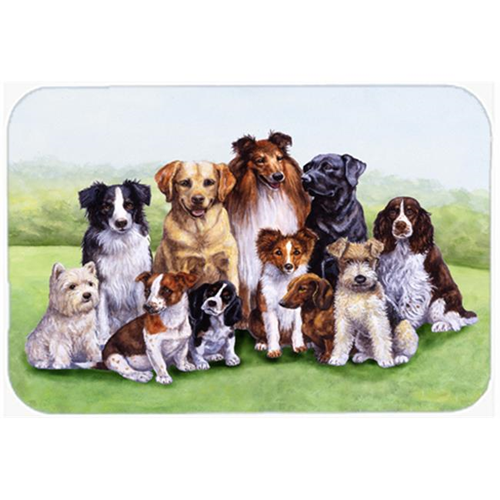 Carolines Treasures BDBA316BMP Springtime Dogs Mouse Pad Hot Pad or Trivet