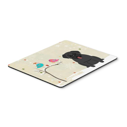 Carolines Treasures BB2478MP Christmas Presents Between Friends Pug Black Mouse Pad Hot Pad or Trivet