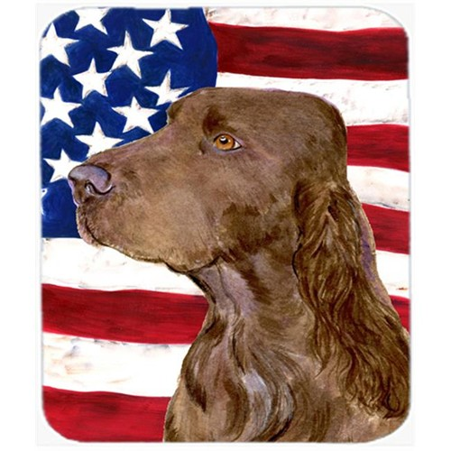 Carolines Treasures SS4010MP Usa American Flag With Field Spaniel Mouse Pad Hot Pad Or Trivet