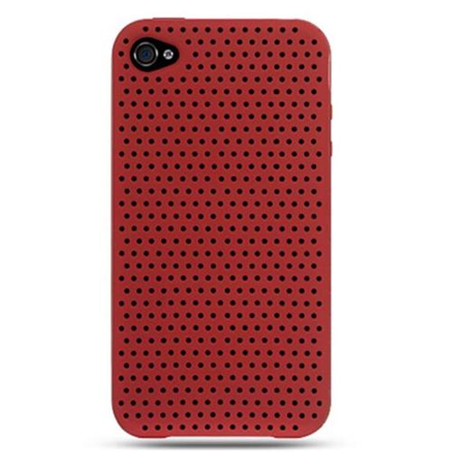 DreamWireless IP-SCIP4RDA iPhone 4 At & T Premium Skin Case - Red Apex