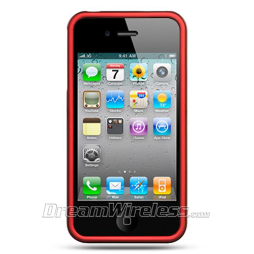 Dreamwireless Fitted Soft Shell Case for iPhone 4S; iPhone 4 - Red