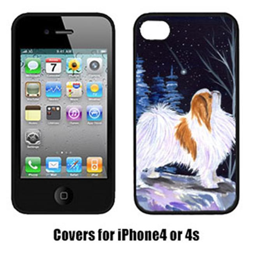 Carolines Treasures SS8363IP4 Starry Night Japanese Chin Cell Phone cover IPhone 4