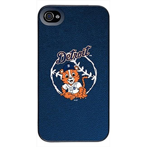 Pangea Detroit Tigers Baby Mascot Design On A Black iPhone 4s & 4 Thinshield Snap On Case