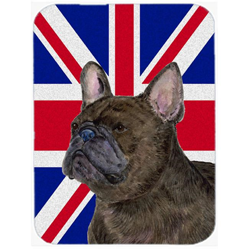 Carolines Treasures SS4961MP 7.75 x 9.25 In. French Bulldog With English Union Jack British Flag Mouse Pad Hot Pad Or Trivet
