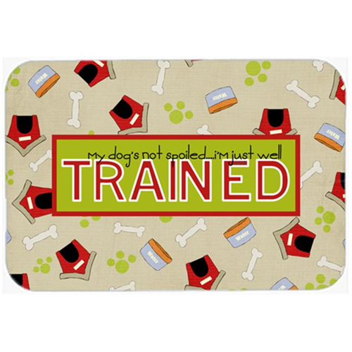 Carolines Treasures SB3051MP 7.75 x 9.25 In. My Dogs Not Spoiled I Am Just Well Trained Mouse Pad Hot Pad Or Trivet