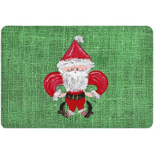 Carolines Treasures 8746MP 9.25 x 7.75 in. Christmas Santa Fleur de lis Mouse Pad Hot Pad Or Trivet