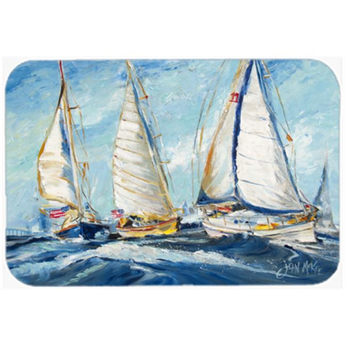 Carolines Treasures JMK1027MP Roll Me Over Sailboats Mouse Pad Hot Pad & Trivet