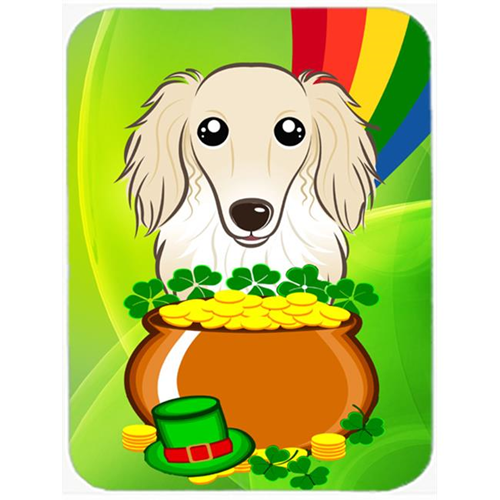 Carolines Treasures BB1956MP Longhair Creme Dachshund St. Patricks Day Mouse Pad Hot Pad or Trivet