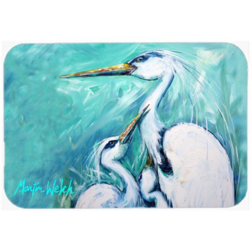 Carolines Treasures MW1159MP 7.75 x 9.25 In. Mothers Love White Crane Mouse Pad Hot Pad Or Trivet
