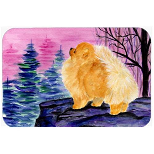 Carolines Treasures SS8606MP Pomeranian Mouse Pad & Hot Pad Or Trivet