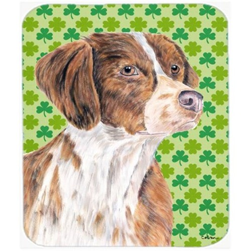 Carolines Treasures SC9309MP Brittany St. Patricks Day Shamrock Portrait Mouse Pad Hot Pad or Trivet