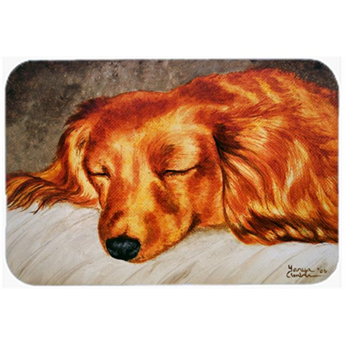 Carolines Treasures AMB1202MP Red Longhaired Dachshund Mouse Pad Hot Pad or Trivet