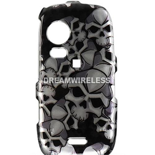 DreamWireless CASAMS50BKSK Samsung Instinct Hd S50 Crystal Case Black Skull - Sprint